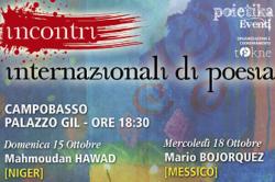 INCONTRI INTERNAZIONALI DI POESIA DAL 15 al 19 OTTOBRE 2017 A CAMPOBASSO