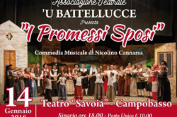 I Promessi Sposi: Commedia Musicale il 14 Gennaio al Teatro Savoia