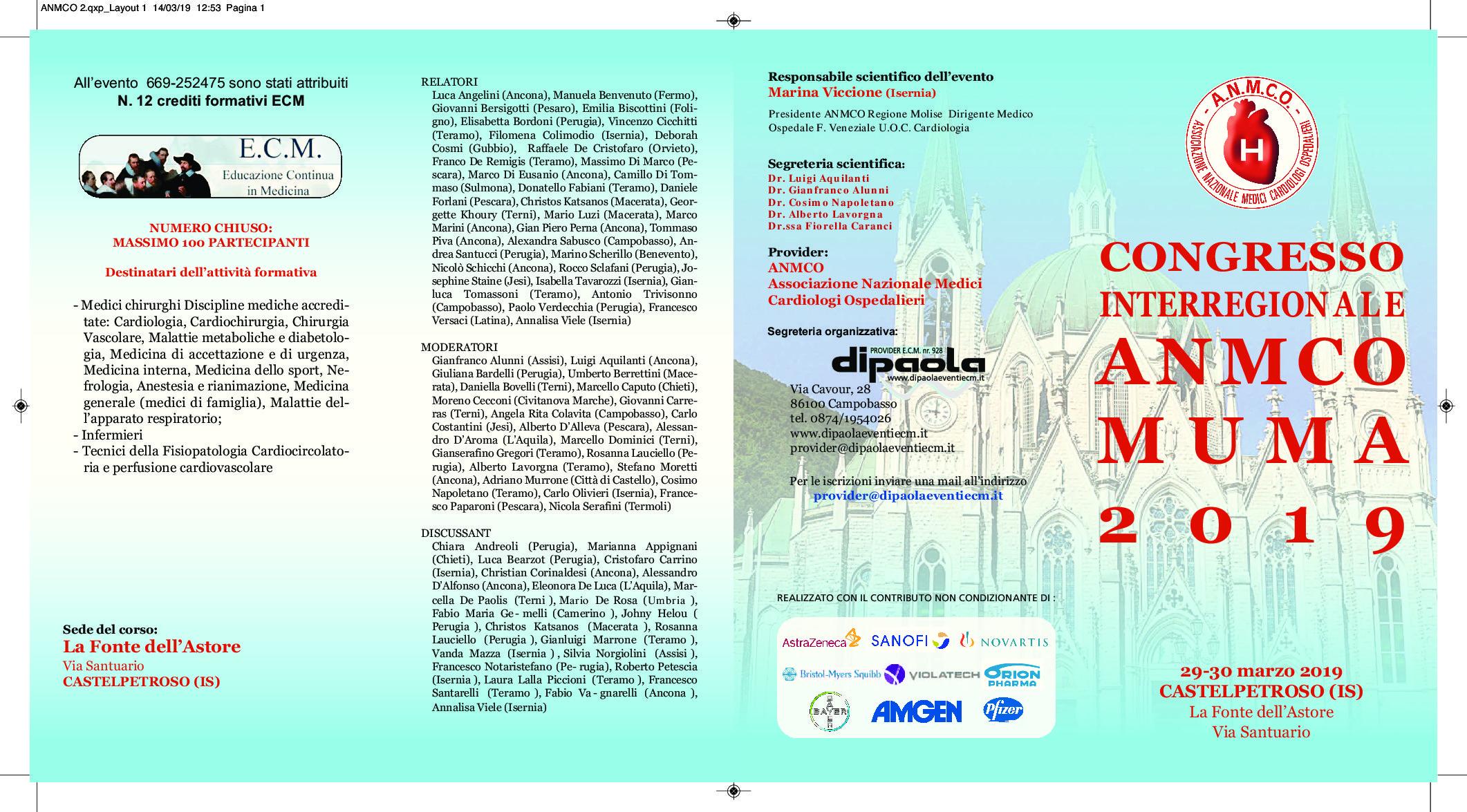 Congresso interregionale ANMCO MUMA 2019
