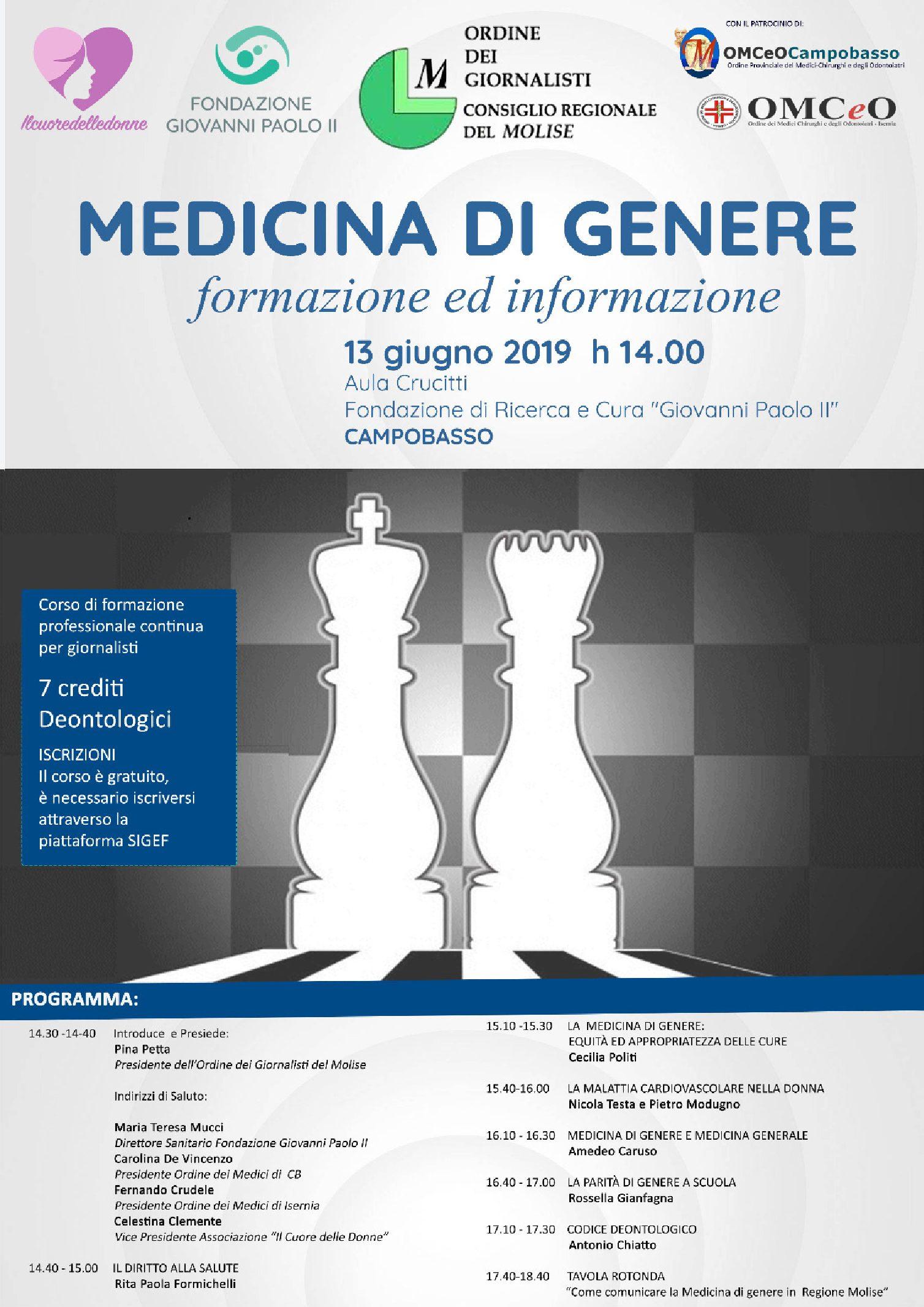 Medicina di Genere formazione e informazione