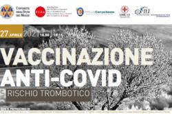 VACCINAZIONE ANTI-COVID e RISCHIO TROMBOTICO: martedì 27 aprile WEBINAR dell'UNIMOL
